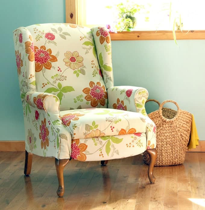 How To Paint Upholstery Old Fabric Chair Gets Beautiful New Life A Piece O