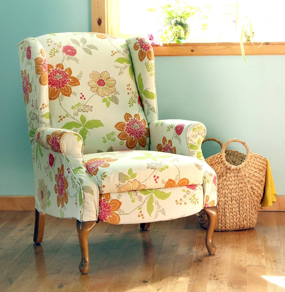 Fabric Chair Makeover Before After
