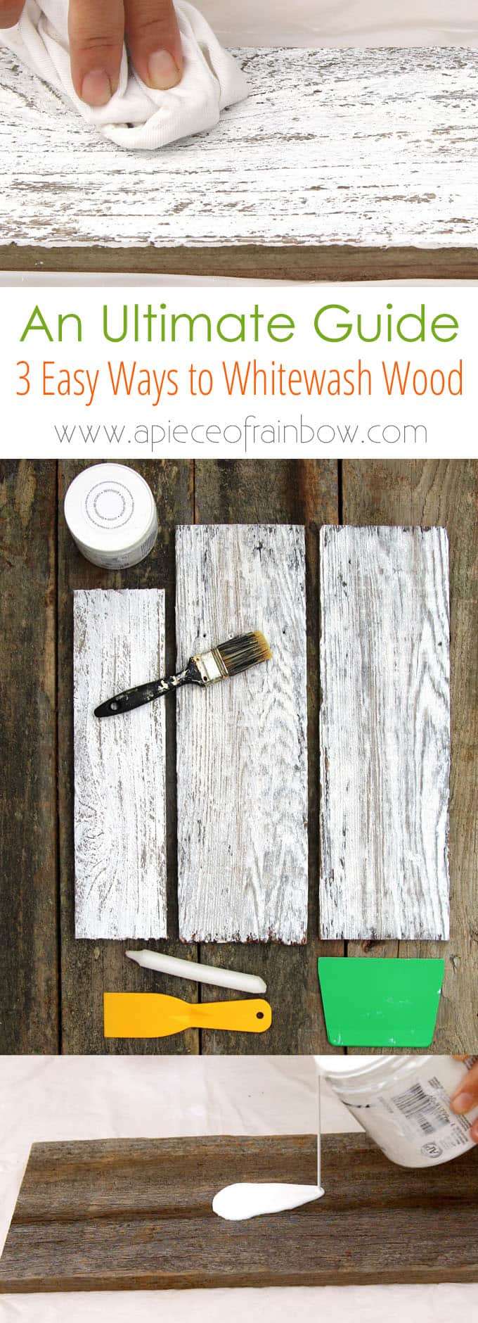 3 Candle Method To Create Distressed Shabby Chic Style Whitewashed Wood