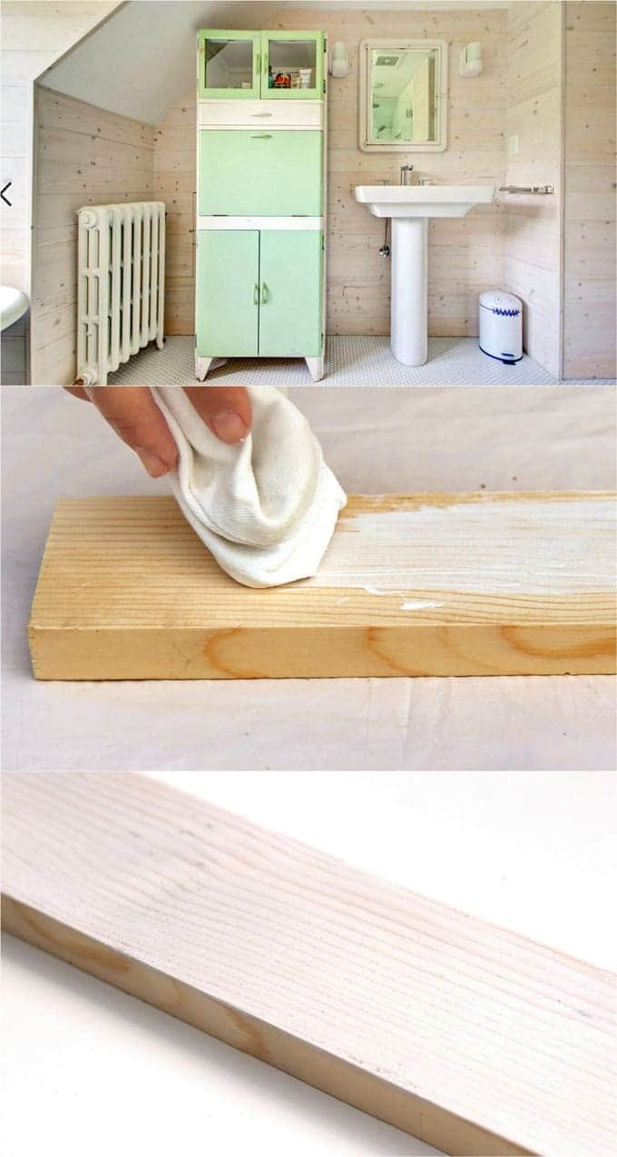 Technique 1 How To Whitewash Pine Wood Or Other Smooth Finish Using A Rag