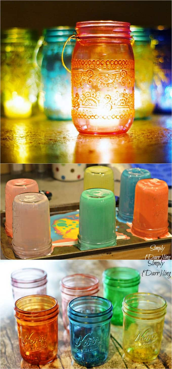 Diy mason jar lights 25 best tutorials kits supplies page 2 diy tinted mason jars solutioingenieria Image collections