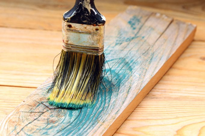 Dip The Brush In Some Paint, And Skim Off As Much Excess Paint As Possible.