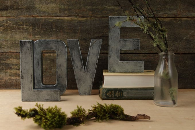 I Used This Distressing Technique To Create These Faux Zinc Letters As You  See In The Video Below.