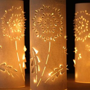 Beautiful DIY paper lanterns with lights and unique 3D flower designs! Easy to make, using simple materials and our free paper lantern template. Elegant decorations for home, holidays, and weddings.