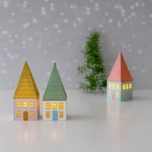 Printable Lighted Paper Houses