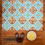 Stenciled Pallet Floor Mat