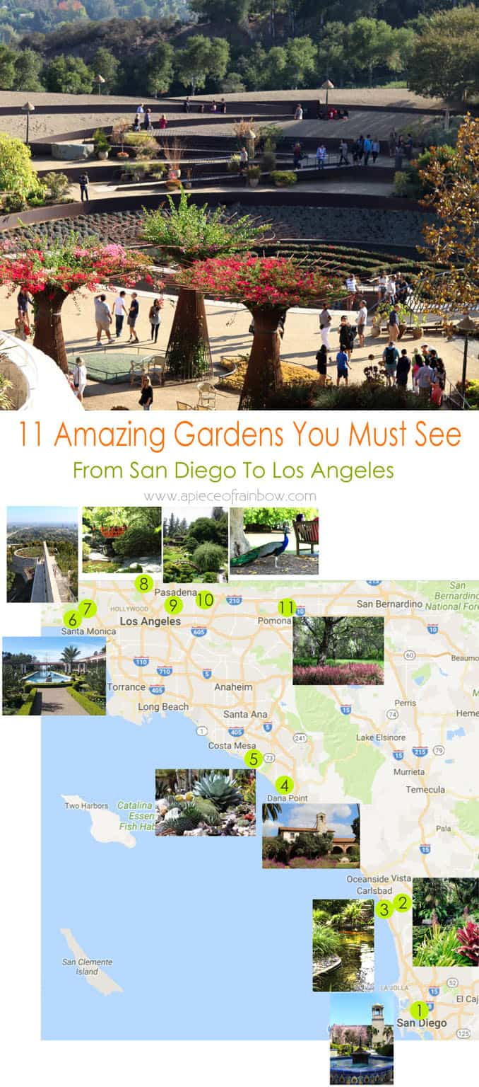 11 magnificent botanical gardens you must see from San Diego to Los Angeles. Visitor info & insider tips - great resources when you visit California!