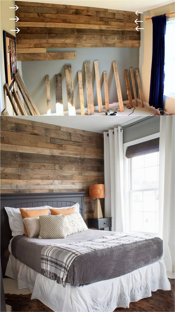Shiplap Wall and Pallet Wall: 30 Beautiful DIY Wood Wall ...