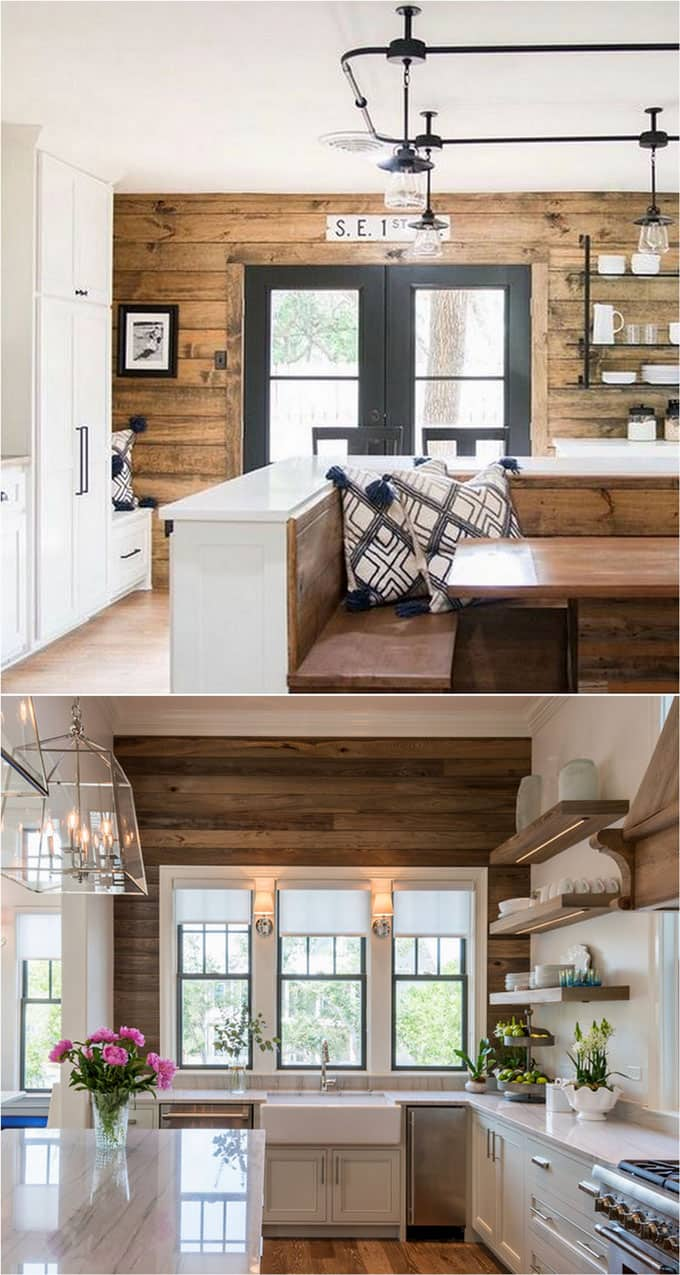 Relatively Shiplap Wall and Pallet Wall: 30 Beautiful DIY Wood Wall Ideas  UW11