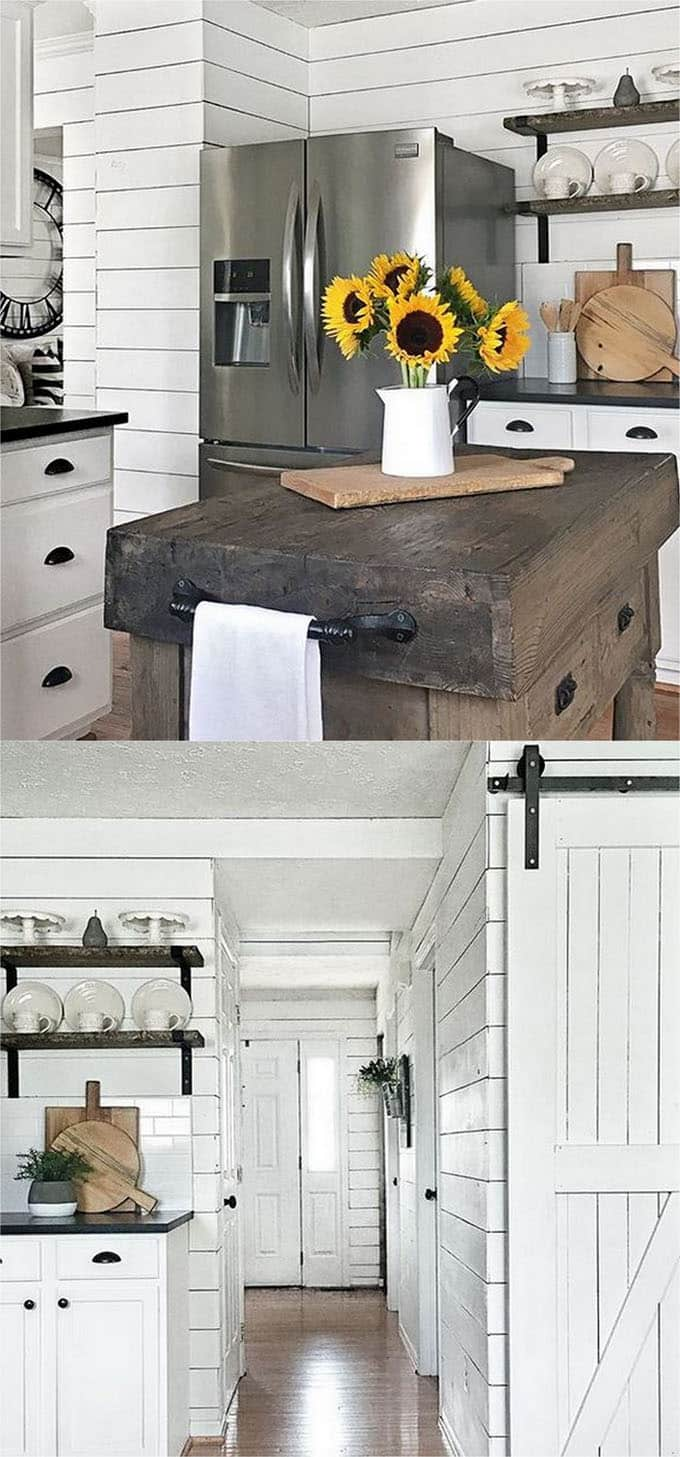 More Shiplap Wall In The Farmhouse Kitchen