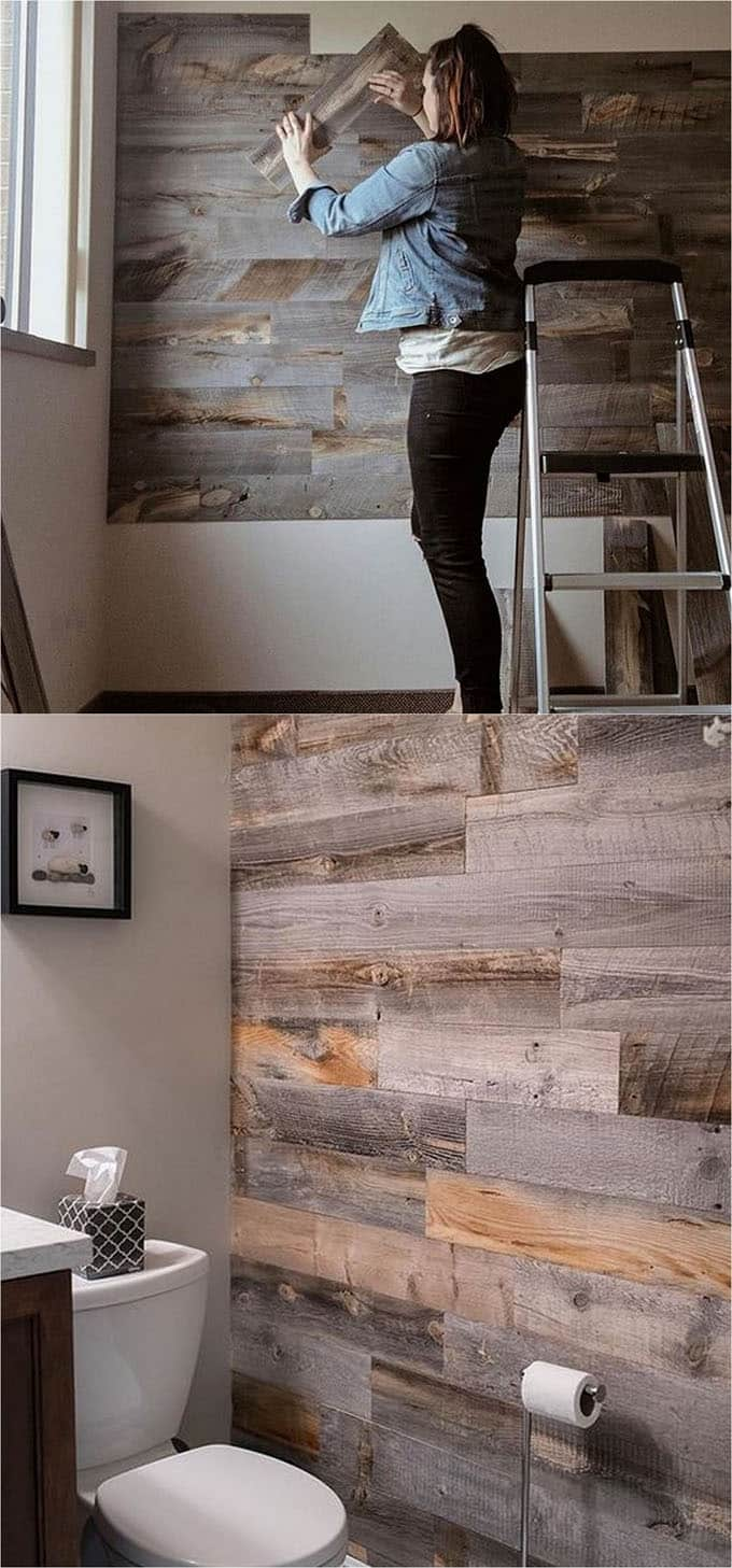 close x Shiplap Wall and Pallet Wall