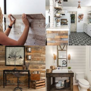30 best DIY shiplap wall and pallet wall tutorials and beautiful ideas for every room. Plus alternative methods to get the wood wall look easily! - A Piece of Rainbow