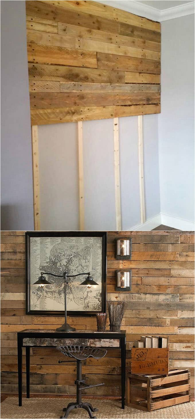 shiplap wall and pallet wall 30 beautiful diy wood wall. Black Bedroom Furniture Sets. Home Design Ideas