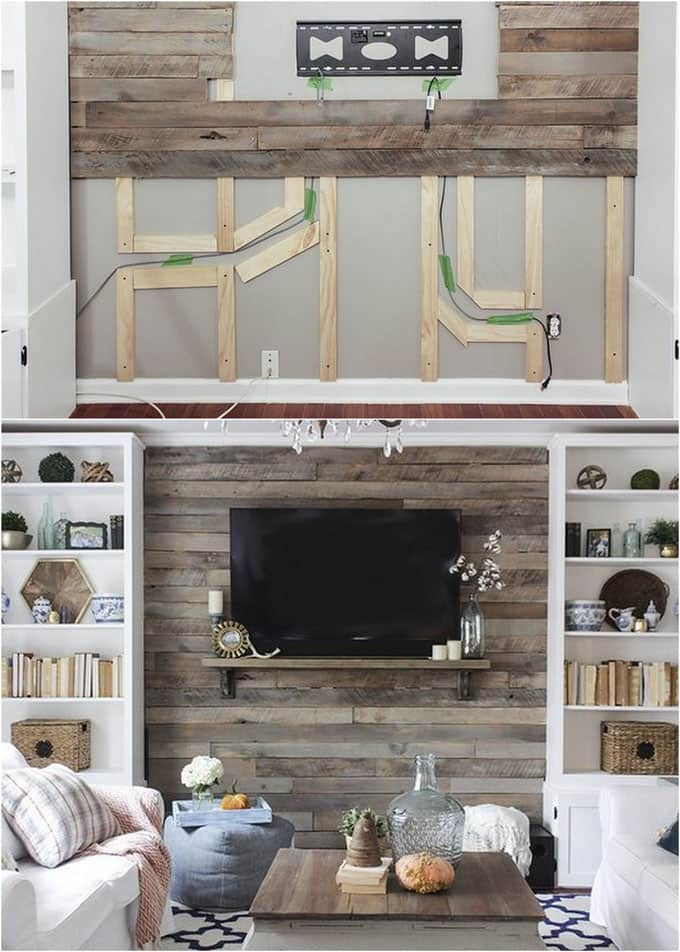 Preferred Shiplap Wall and Pallet Wall: 30 Beautiful DIY Wood Wall Ideas - A  YX13