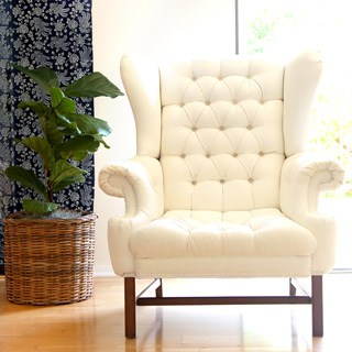 How To Paint Upholstery Old Fabric Chair Gets Beautiful New Life A Piece Of Rainbow