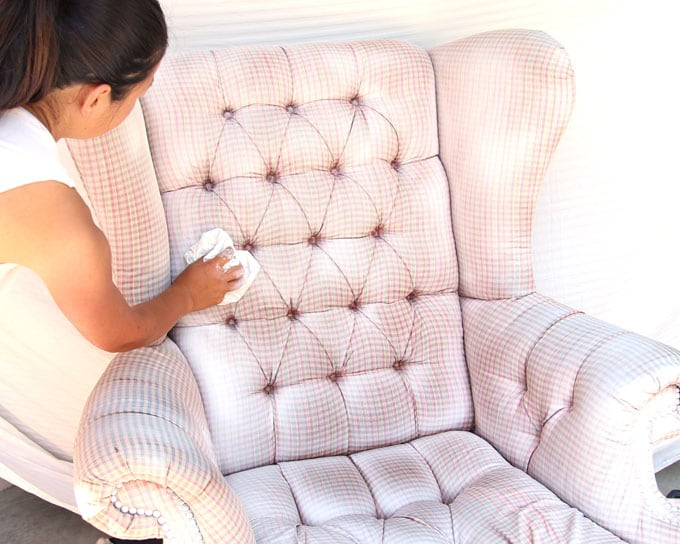 How To Paint Upholstery Old Fabric