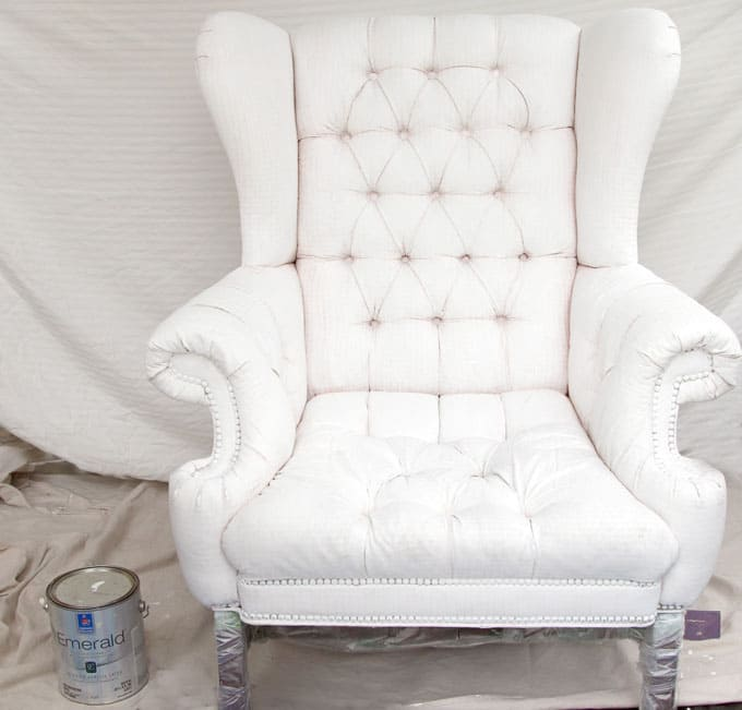 How To Paint Upholstery Old Fabric Chair Gets Beautiful New Life