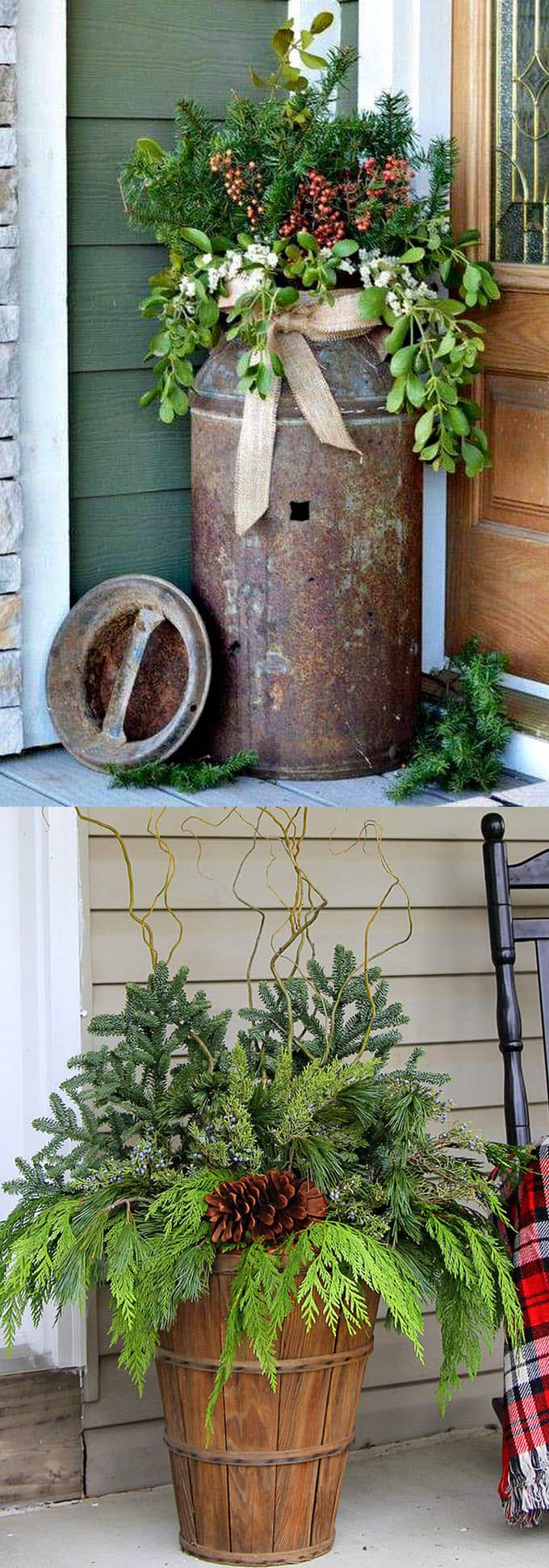 24 Stunning Christmas pots and planters to DIY for almost free! How to create colorful