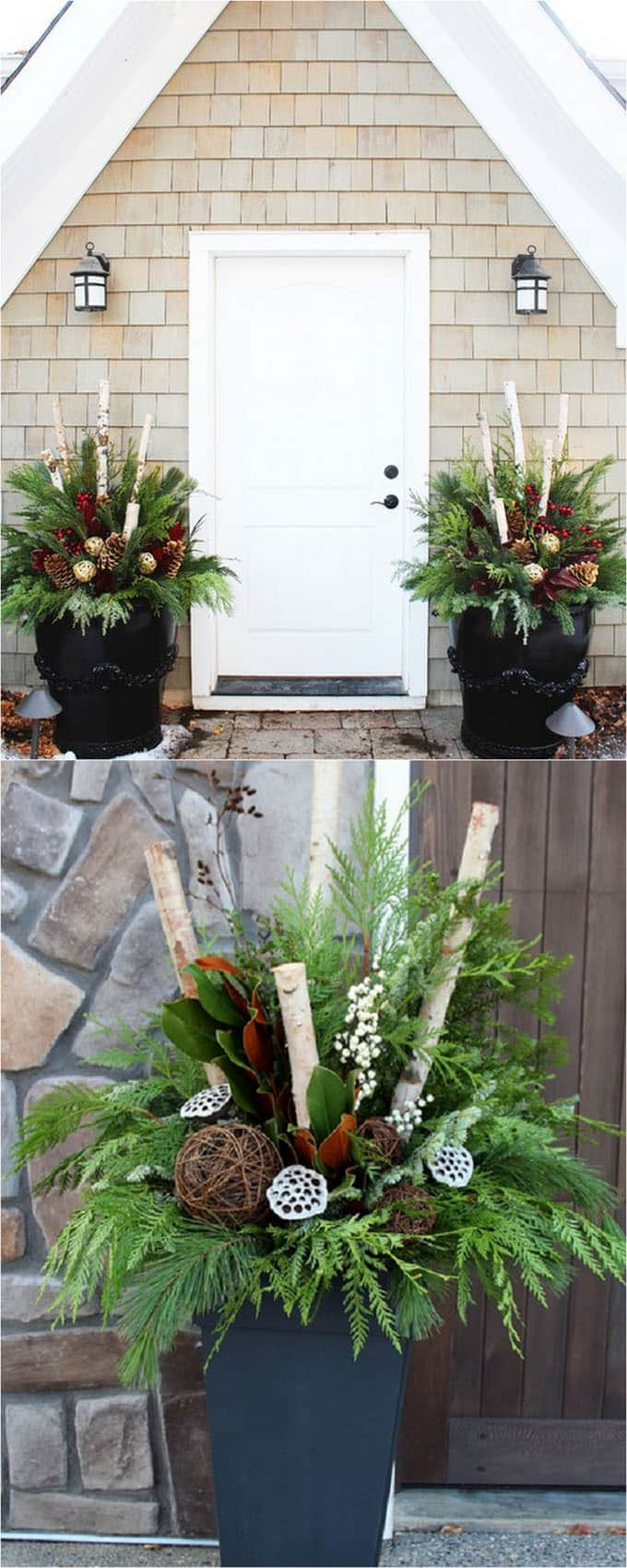 24 Stunning Christmas Pots And Planters To Diy For Almost Free How Create Colorful