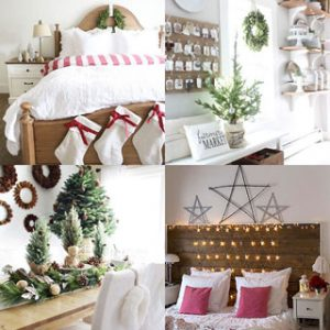 100+ Best Christmas decorating ideas organized by rooms! How to create beautiful Christmas entryway, living room, kitchen, bedroom, staircase, & more! A Piece of Rainbow