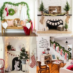 100+ Favorite Christmas decorating ideas for every room! Lots of great tips to apply to your own home easily with gorgeous DIY Christmas decorations! A Piece of Rainbow