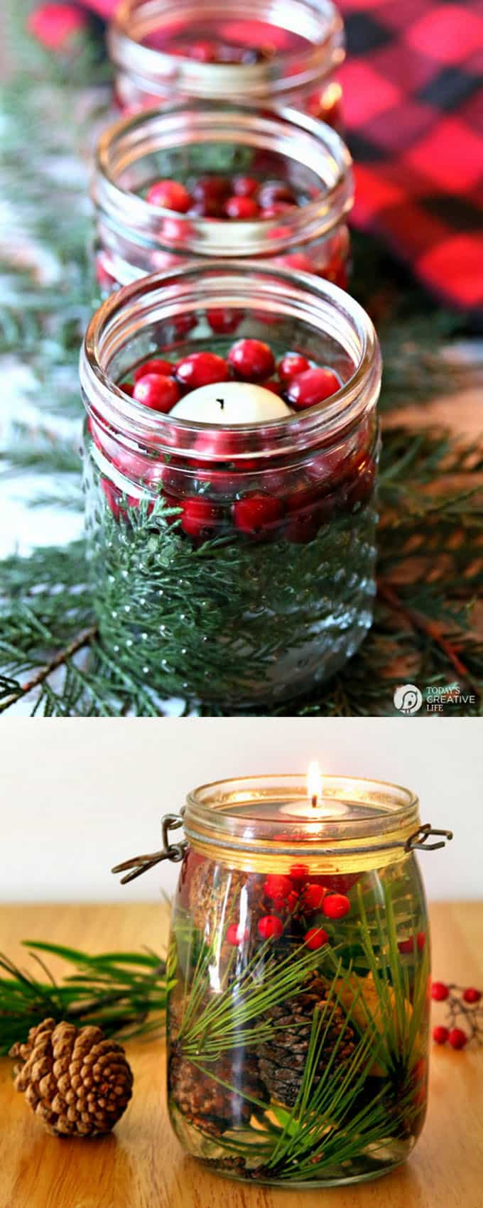 Mason Jar Table Decorations