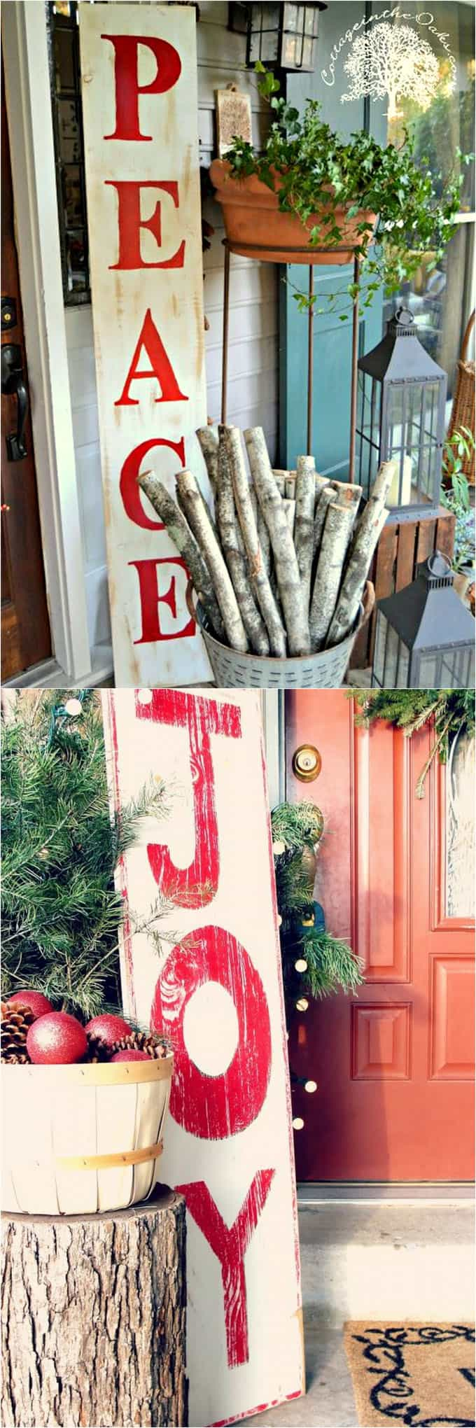 32 beautiful christmas porches front doors how to create gorgeous and playful diy outdoor - Outdoor Christmas Decorating Ideas Front Porch