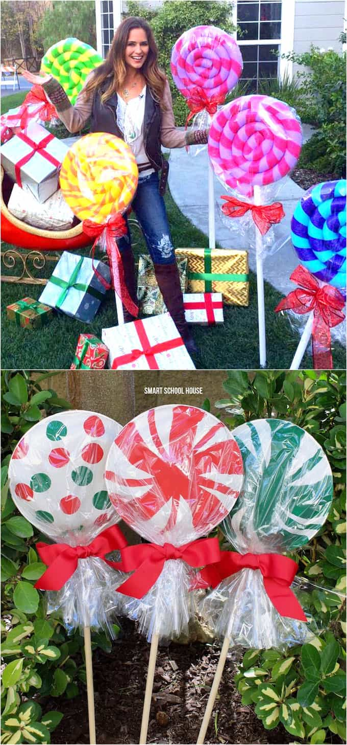 giant candy outdoor Christmas decorations