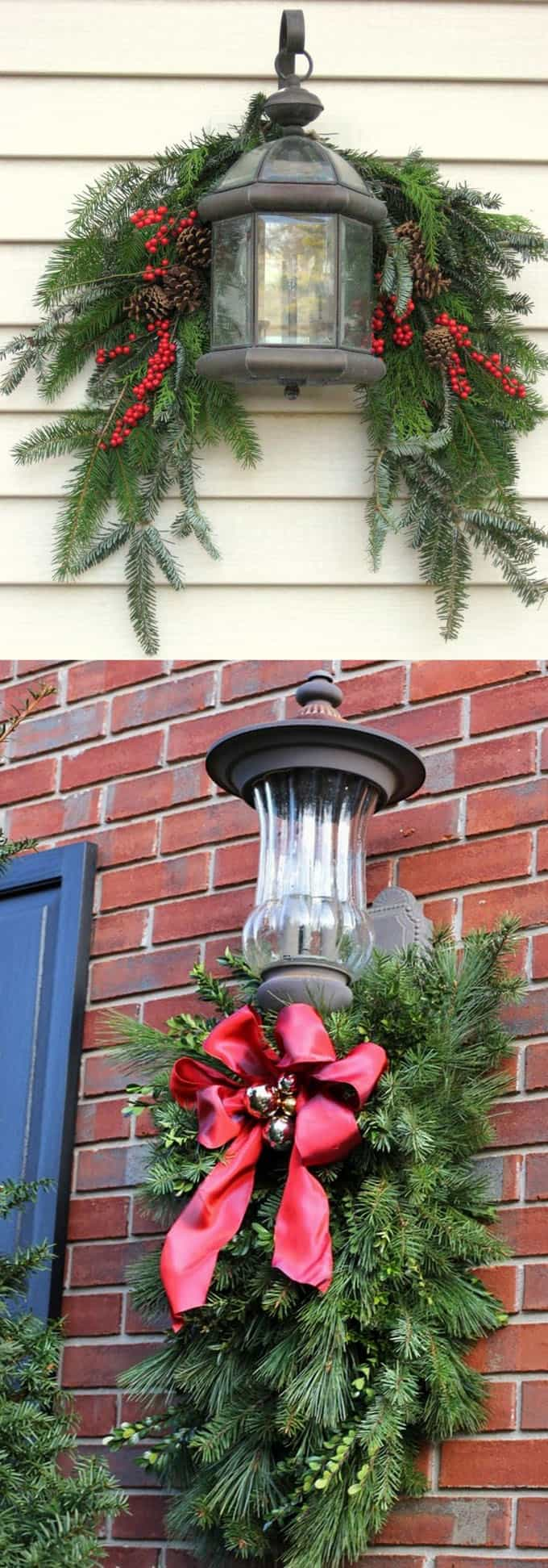 32 beautiful Christmas porches & front doors: how to create gorgeous and playful DIY outdoor