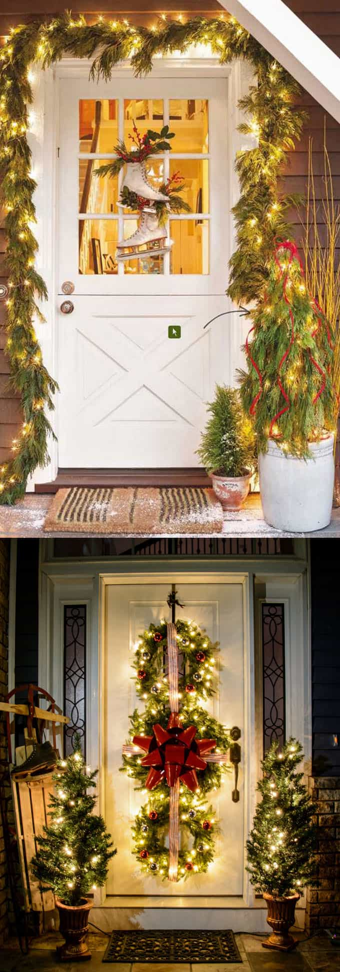 32 beautiful christmas porches front doors how to create gorgeous and playful diy outdoor - Outdoor Christmas Ornaments