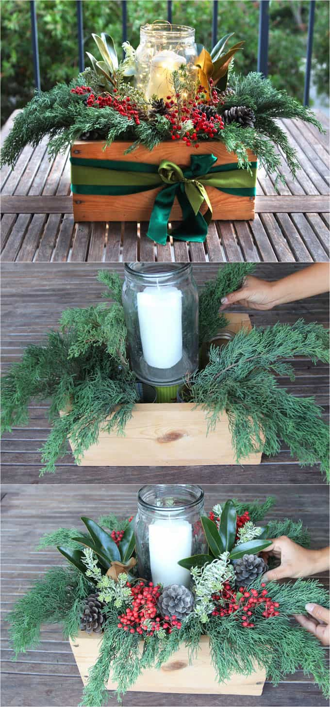 Christmas table decoration ideas easy