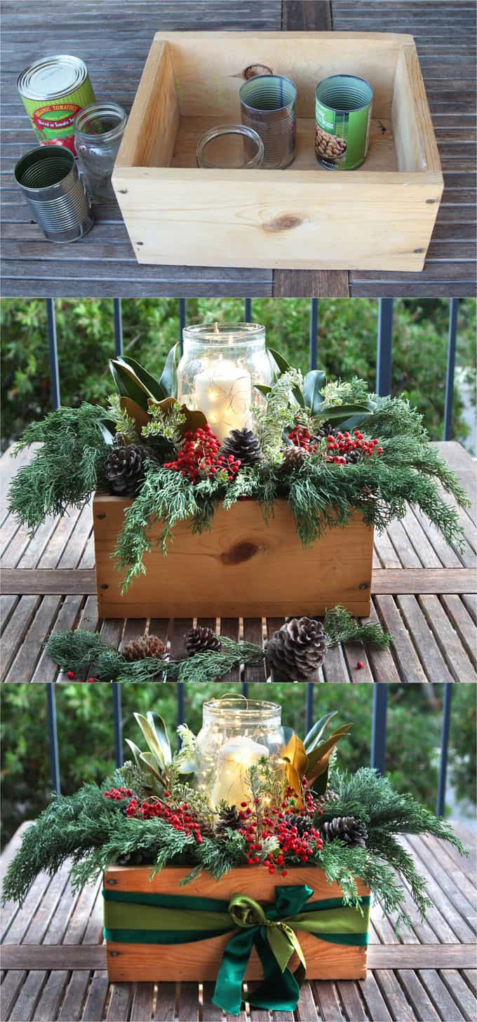 DIY Christmas Table Decorations: Easy Centerpiece In 10