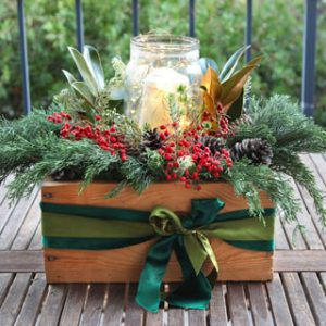DIY Christmas table decorations centerpiece for $1. Easy tutorial & video on how to make a beautiful Christmas centerpiece as decor & gifts in 10 minutes! A Piece of Rainbow
