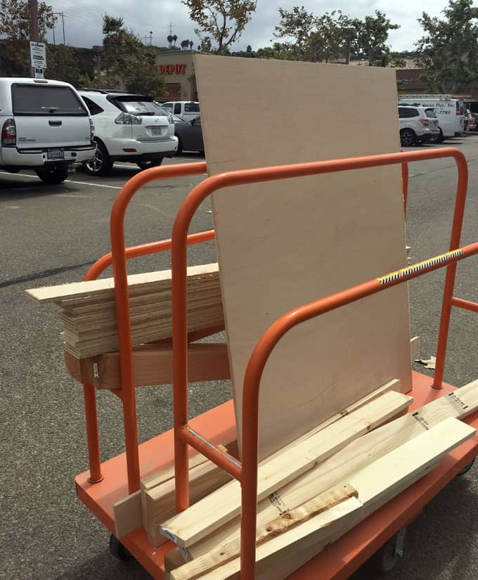 buying wood for DIY queen bed frame and headboard