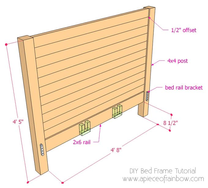 instead of making this super long tutorial even longer i have included detailed step by step instructions on how to build the center panel - Wooden Bed Frame Plans