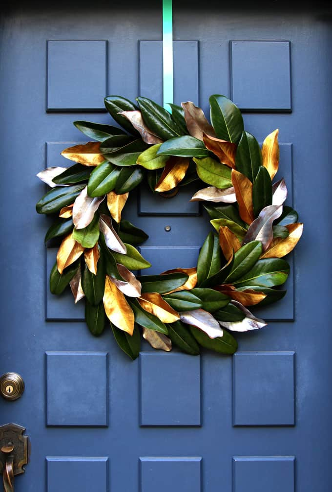 This Magnolia Leaf Wreath Would Look Beautiful Hanging On A Panel Of  Reclaimed Wood Or Any Colored Door! All You Need Is A Door Wreath Hanger  Like This One, ...