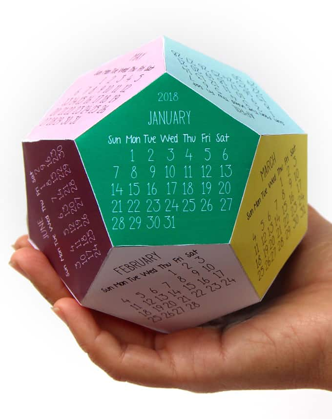 Free Printable Calendar Template 3d 2018 Calendar A Piece Of