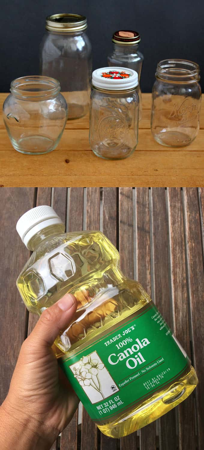 vegetable oil to make oil candles