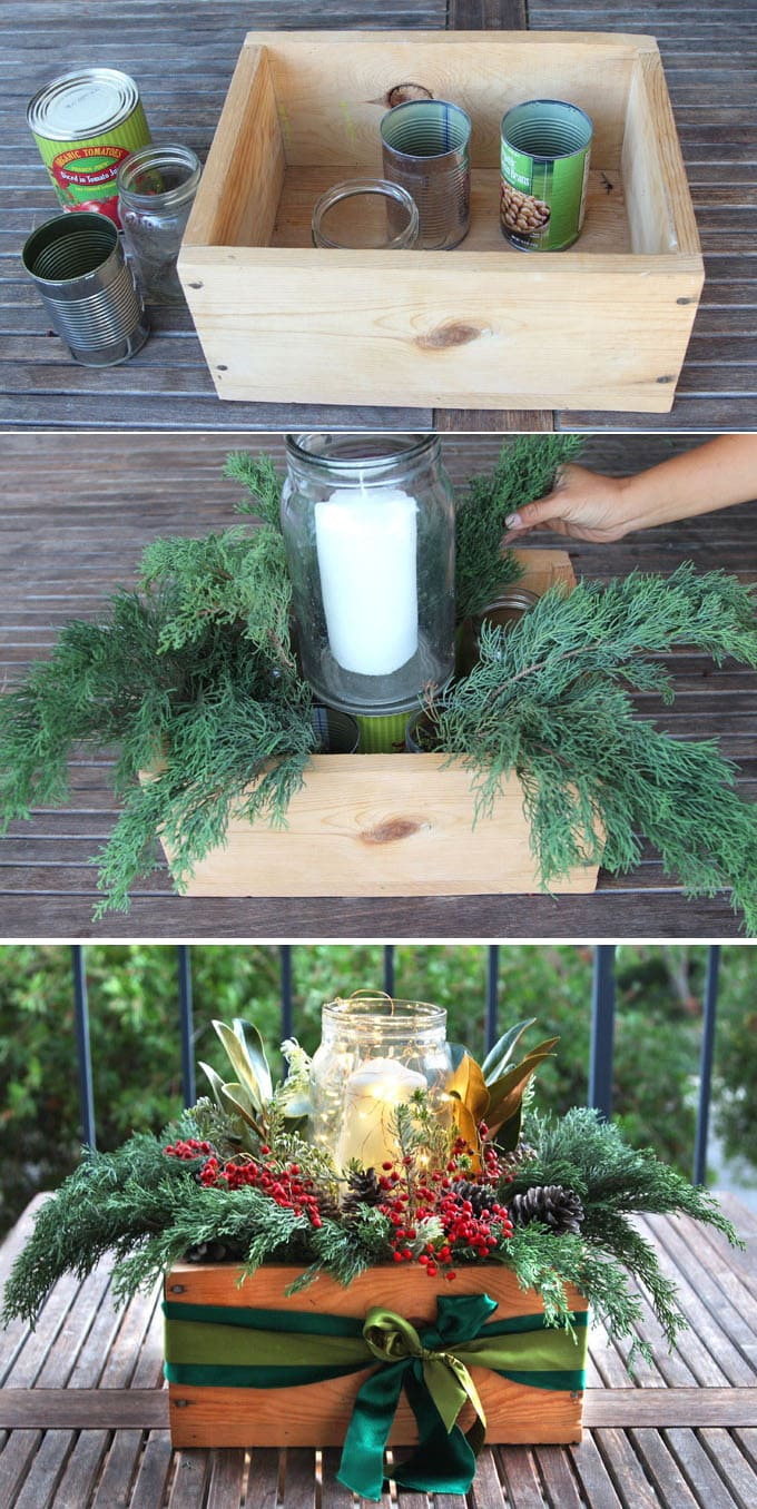 Beautiful & Free 10-Minute DIY Christmas Centerpiece