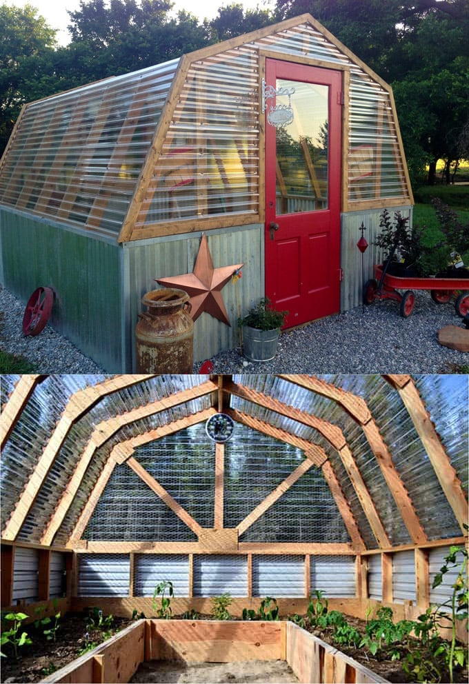 cute barn greenhouse DIY