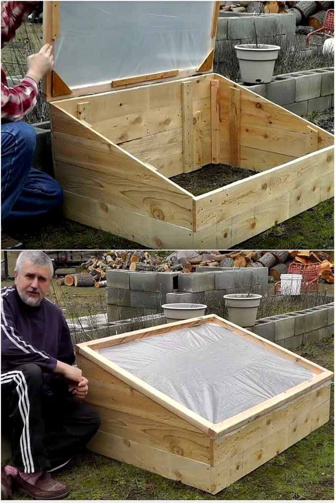 Simple DIY cold frame /mini  greenhouse