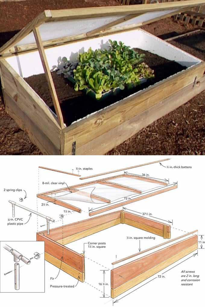 simple DIY cold frame greenhouse free plan