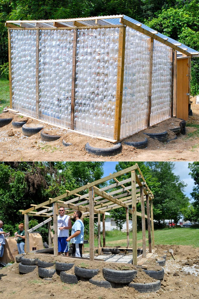 Plastic bottle greenhouse DIY ideas