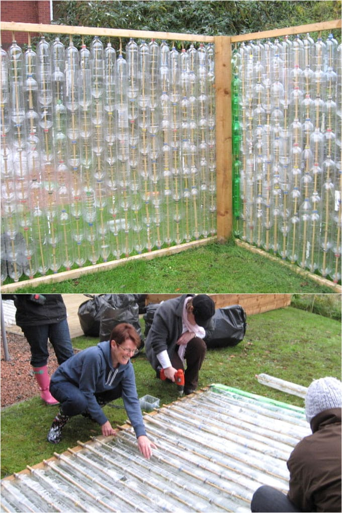 how to make greenhouse from lastic bottles