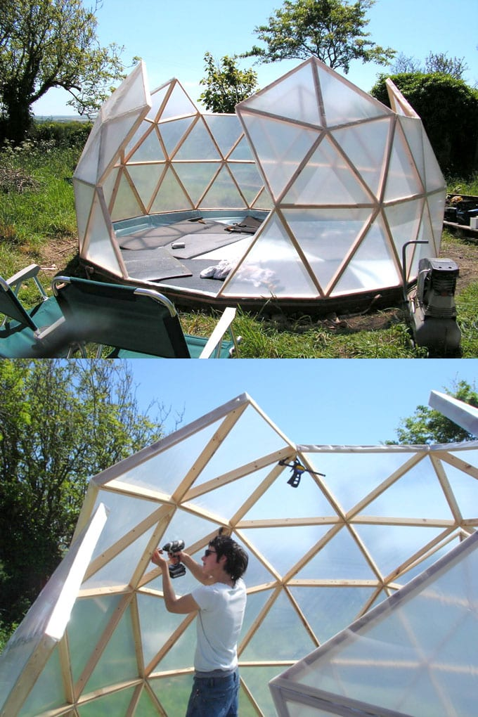 geo dome greenhouse DIY
