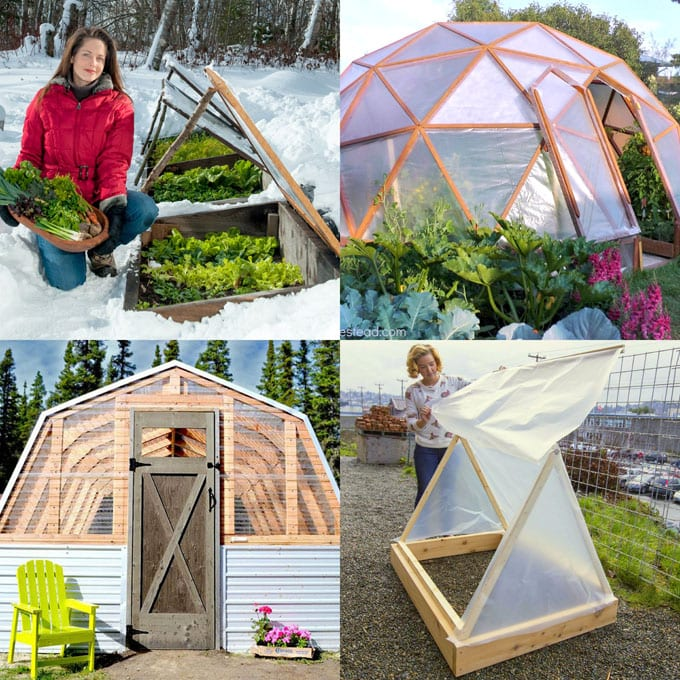 build easy DIY greenhouses, simple cold frames, garden tunnels & hoops