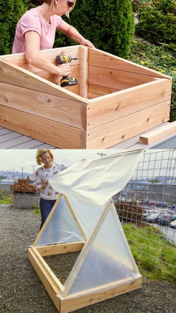 small DIY greenhouses and cold frames