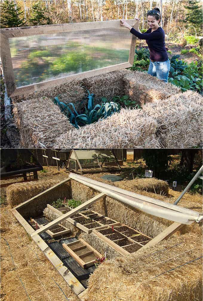 easy DIY Straw Bale Cold Frame