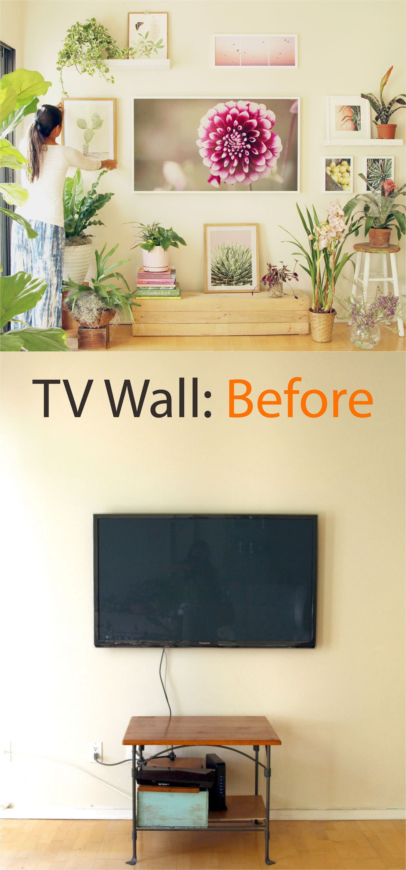 Tv wall to beautiful picture wall in 5 easy steps a piece of rainbow thank you so much samsung for sponsoring our tv picture wall makeover you can learn more about the frame tv here which will be 200 off the 55 and 65 jeuxipadfo Choice Image
