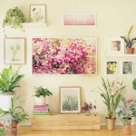 Transform a TV wall into a beautiful and seasonal picture wall in 5 easy steps. Detailed planning guide with lots of great gallery wall design and DIY tips! A Piece of Rainbow